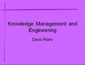 Knowledge Management Engineering